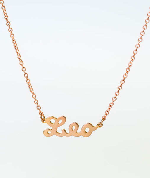 Leo Rose Gold Zodiac Necklace