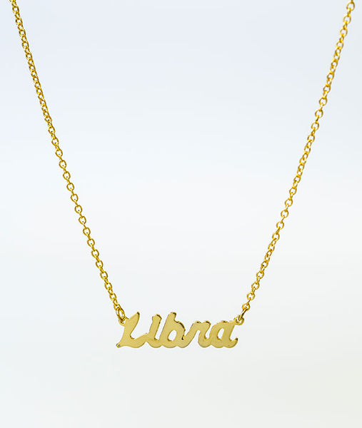 What's Your Sign? Dancer Zodiac Necklace - Gold
