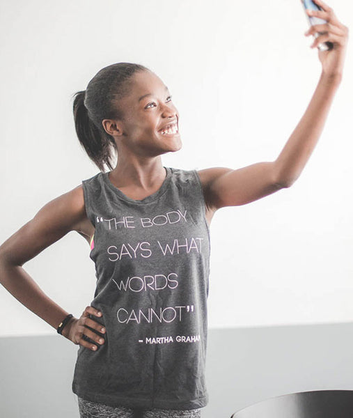 Martha Graham Quote Muscle Tee
