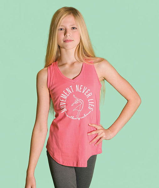 Girls V-Neck Tank with Martha Graham quote