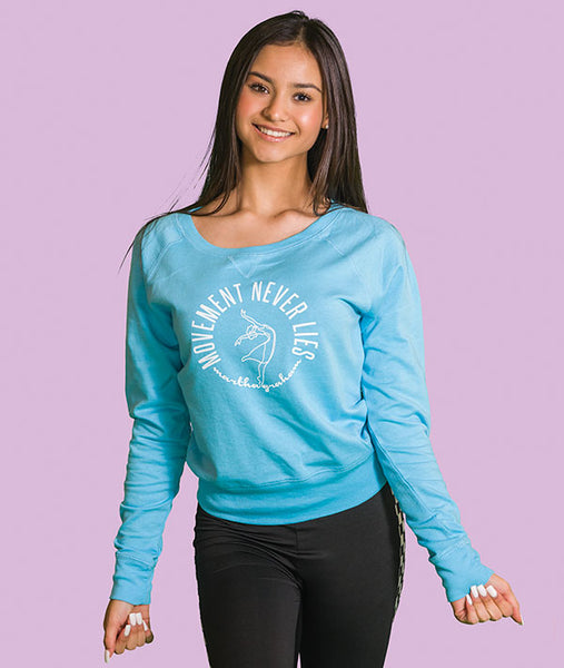 Movement Never Lies - Aqua French Terry Pullover