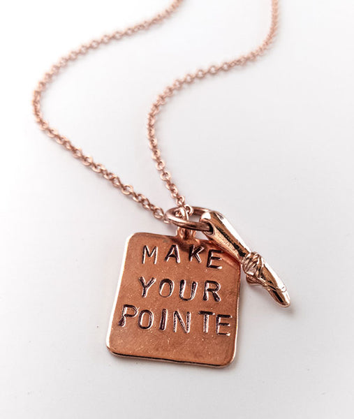 Make Your Pointe Necklace - Rose Gold