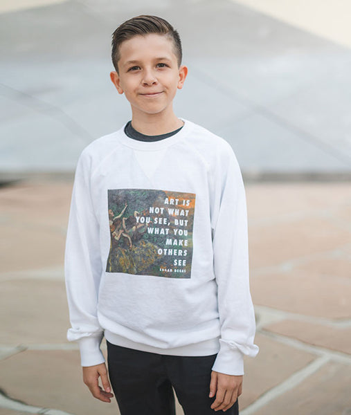 Degas Quote on a comfy sweatshirt