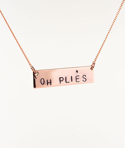 Oh Pliés Rose Gold Plated Necklace