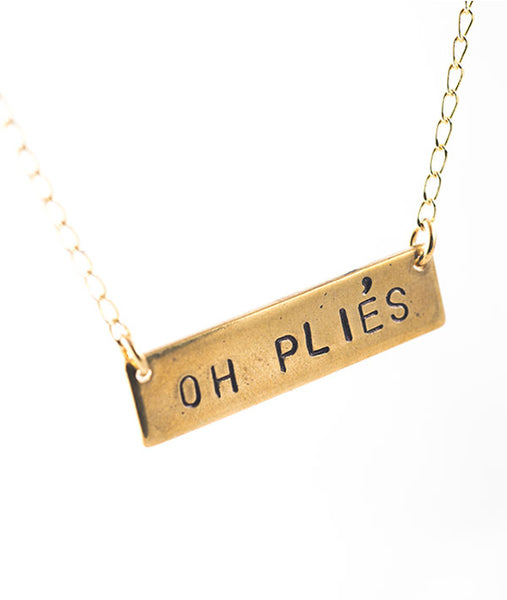 Oh Pliés - Brass Necklace