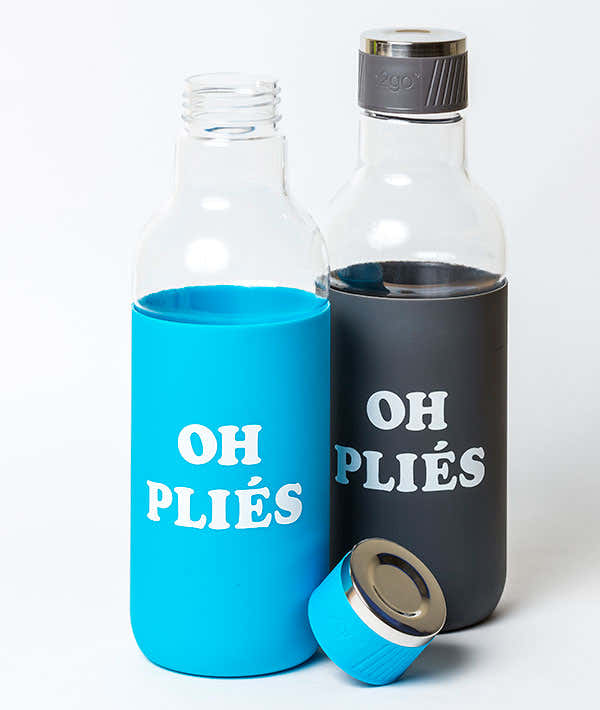 Oh Pliés -  Water Bottle  with Silicone Sleeve 1