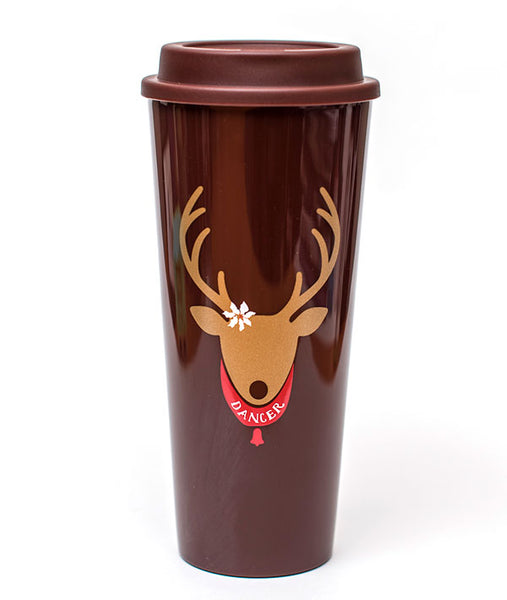 DANCER Reindeer thermal coffee cup