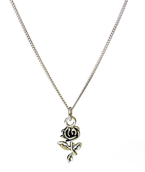 Recital Rose Necklace - Rhodium (Silver) Plated