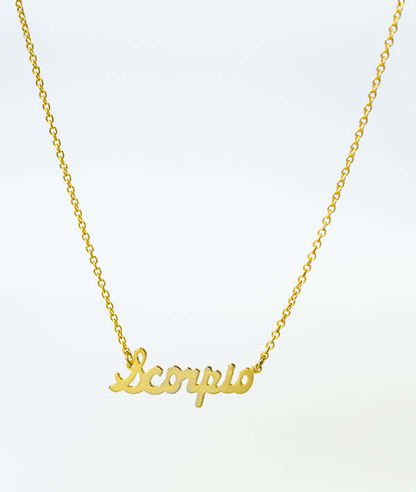 What's Your Sign? Dancer Zodiac Necklace - Gold 1
