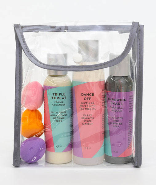 Dancer Skin Care Set with makeup sponges