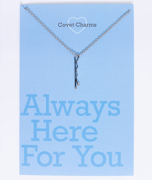 Always Here For You - Silver (Rhodium) Bobby Pin Necklace