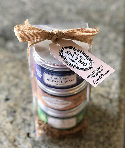 A trio of Dance Apothecary products from Covet Dance