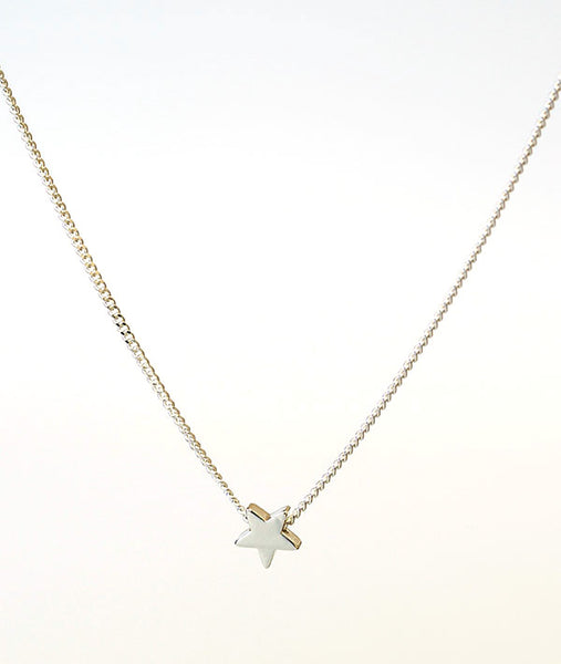 Silver Star Necklace (Rhodium Plated)
