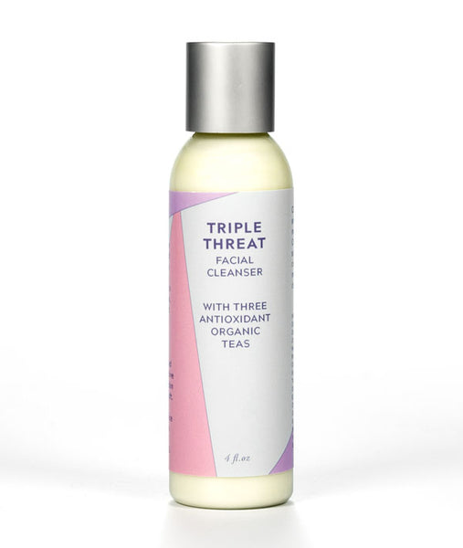Triple Threat Facial Cleanser with three antioxidant teas
