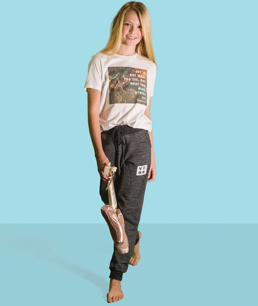 Super comfy joggers with a dancey vibe