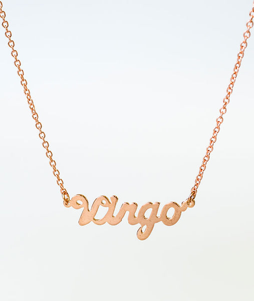 Virgo Rose Gold Zodiac Necklace