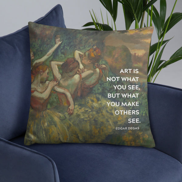 Ballerina Art Quote Pillow