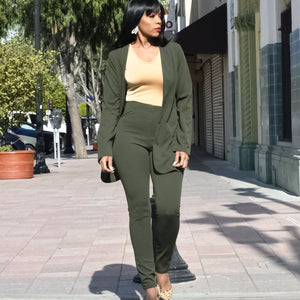 Back to Basics Army Green Three-Piece Set