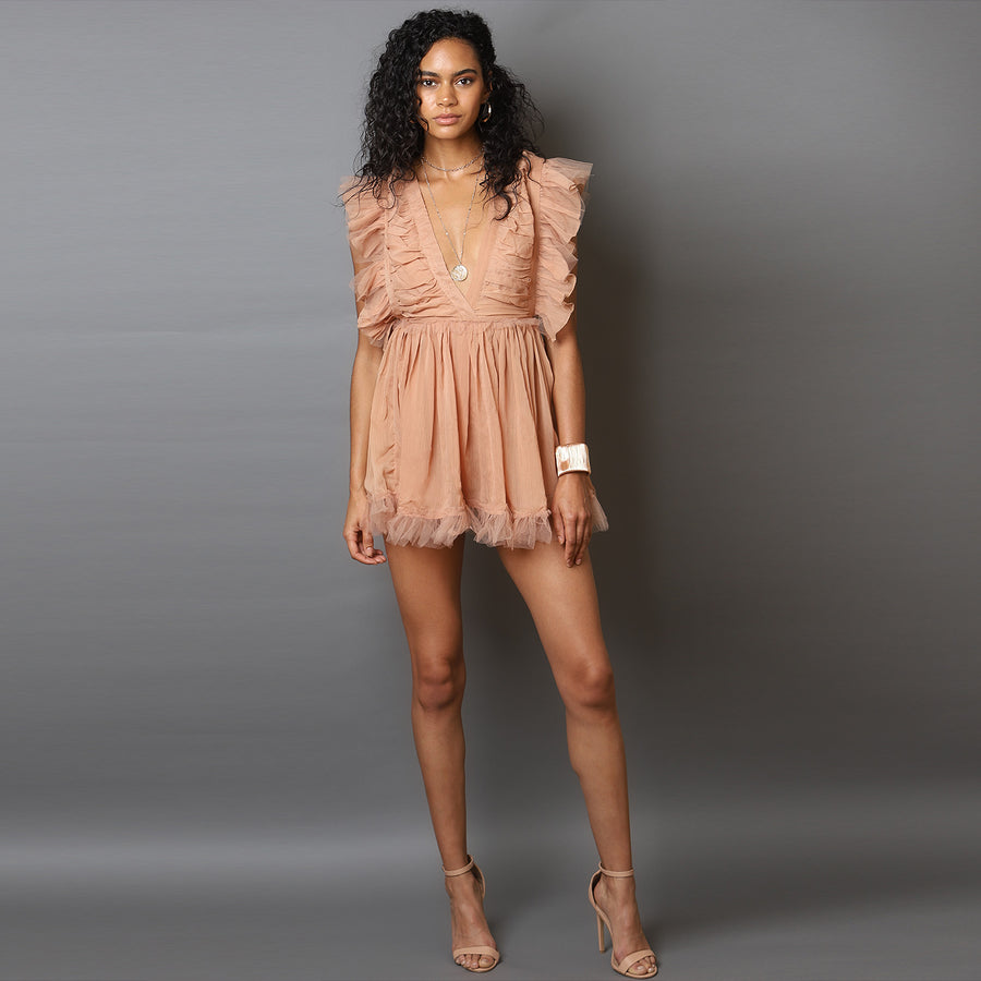 "The Perfect ""Nude Romper Dress"""