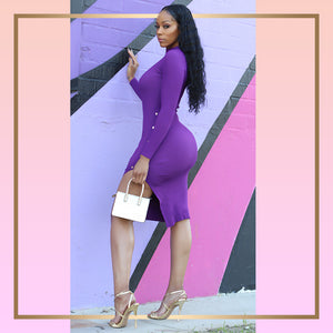 Purple Body Dress