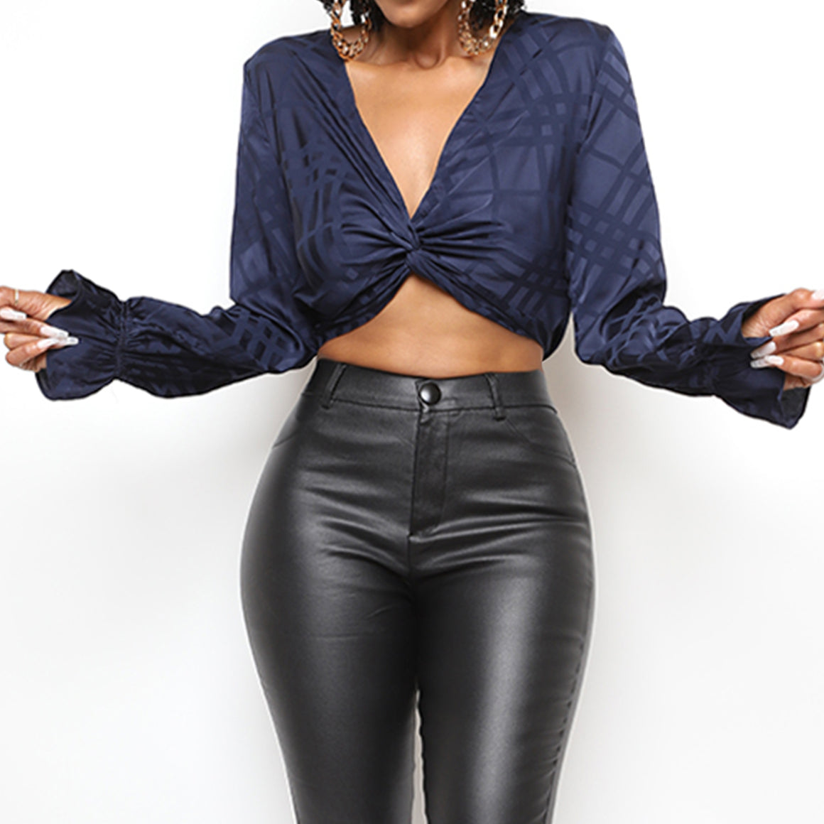 Hot Girl Satin Wrap Top