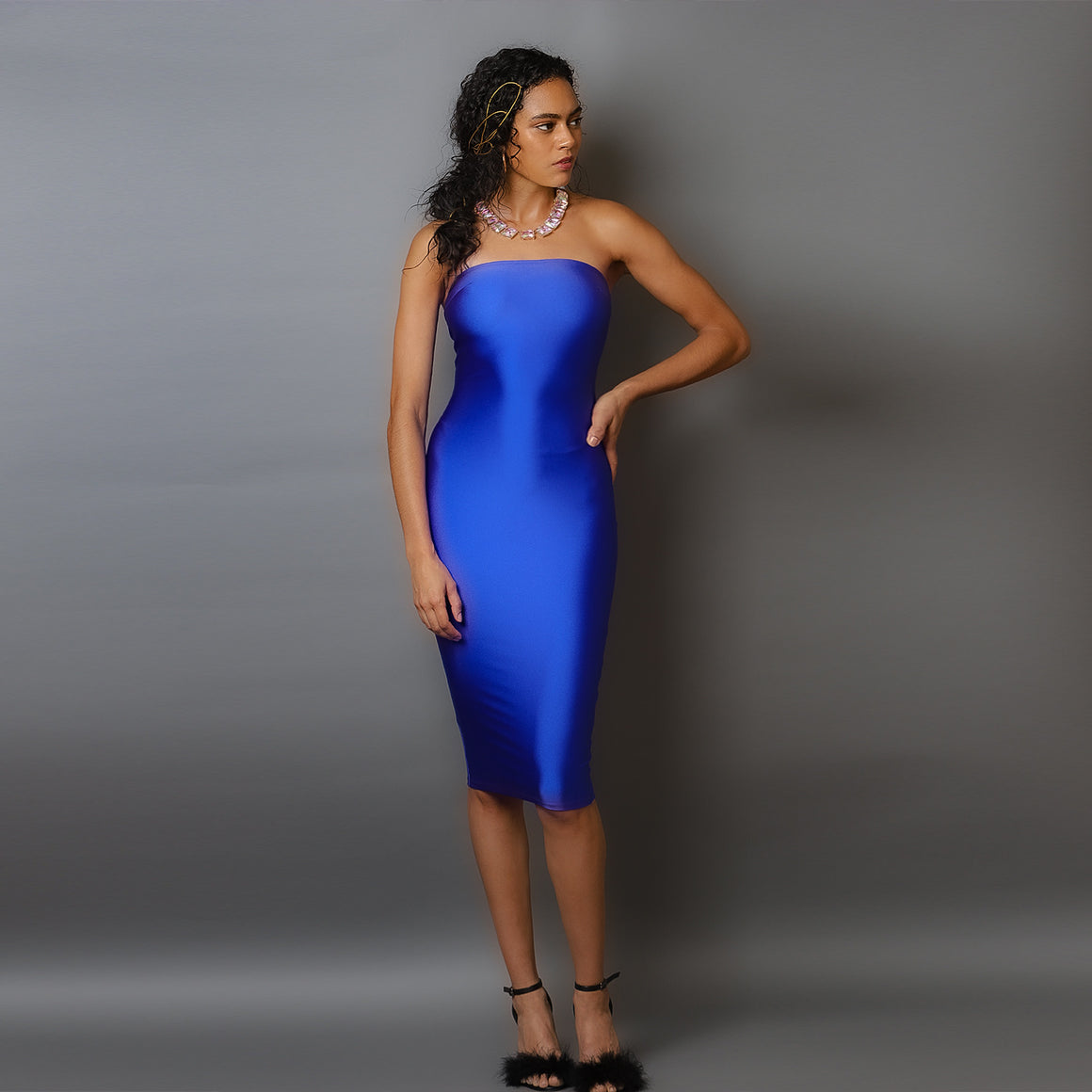 Hello Doll Electric Blue Spandex Dress