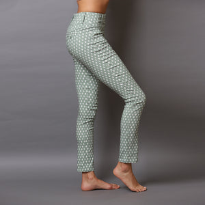 Super Stretch Pattern Mint Green Pants