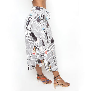 Read All About It Newspaper Skirt