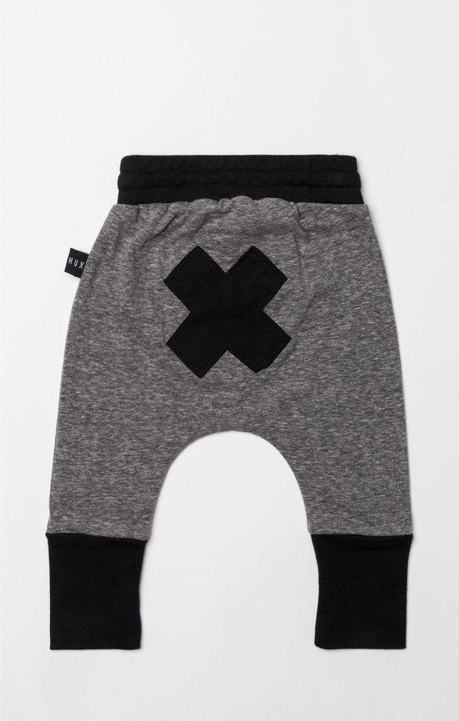 high cuff drop crotch pant - slub