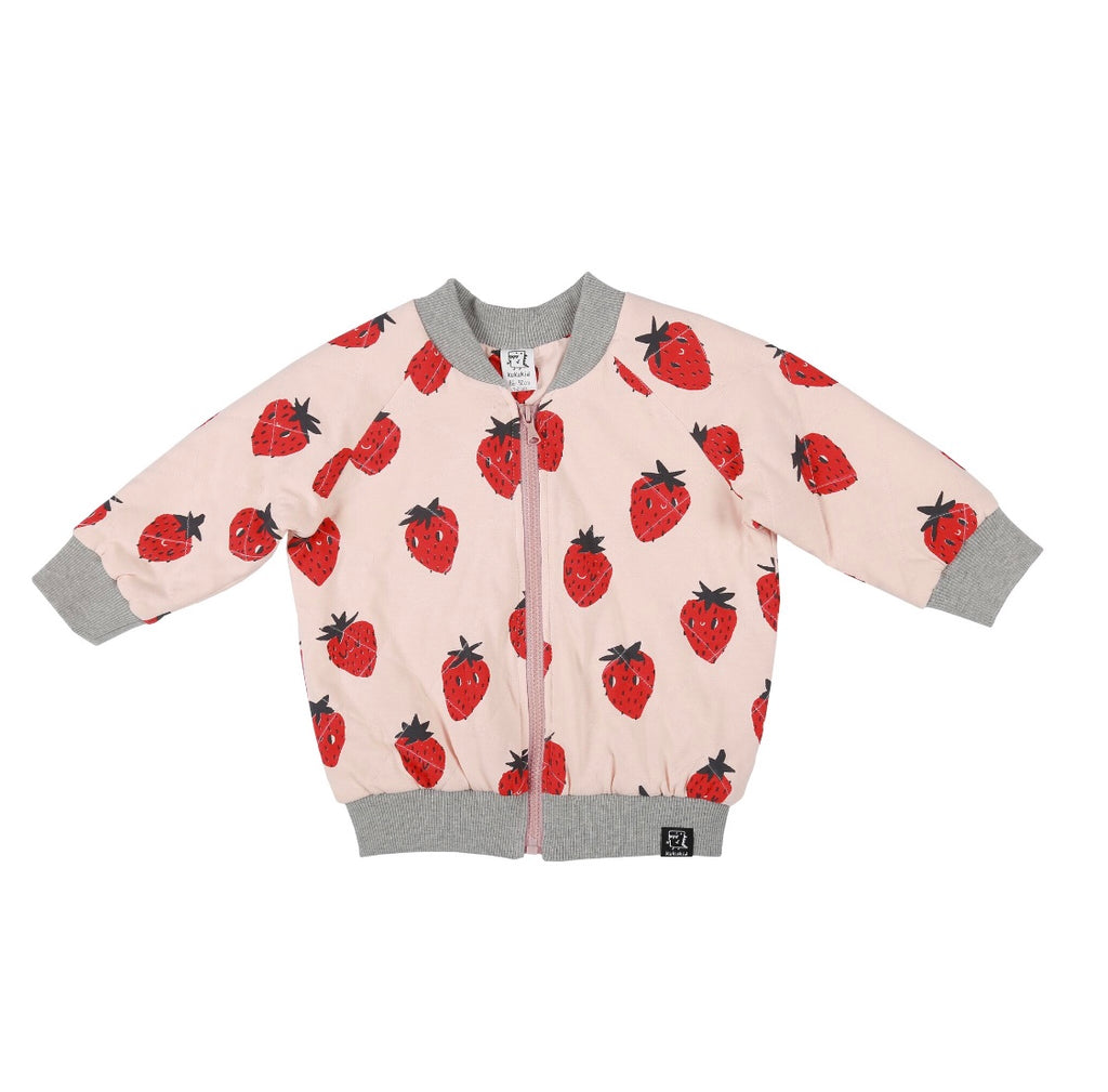 Bomber Jacket peach strawberry
