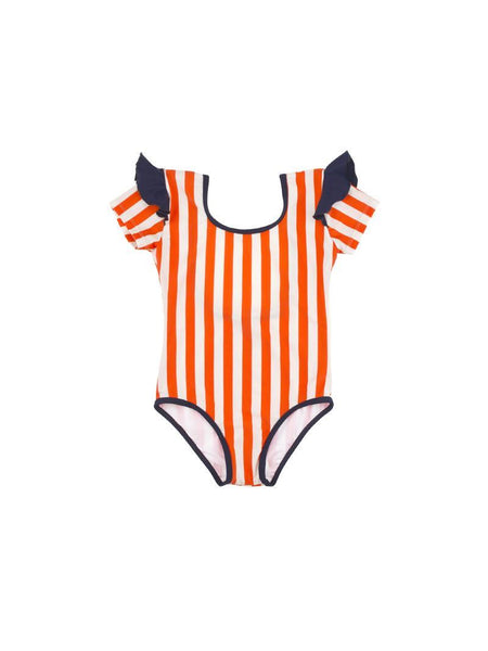 STRIPES & FRILLS SWIMSUIT