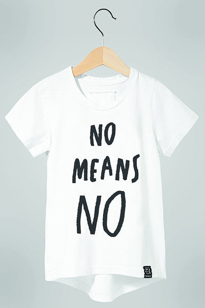 T-SHIRT NO Means NO