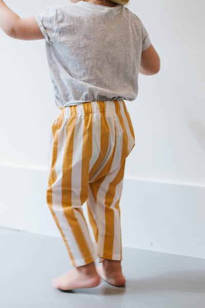 stripes woven pants