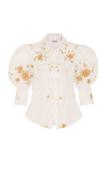 sacred to the land gold embroidery shirt