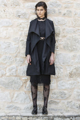 black trench coat hand made in melbourne