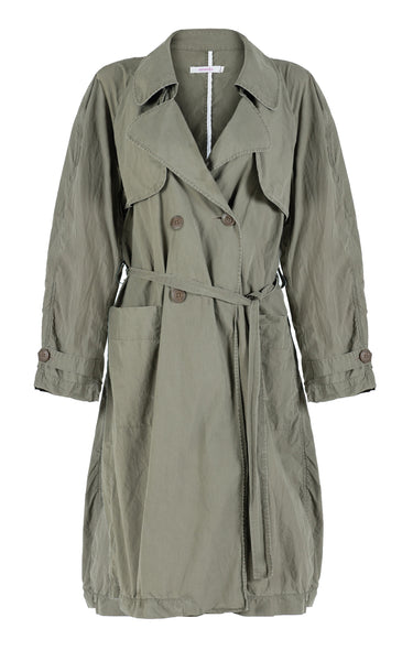 big rain coming khaki chintz trench coat