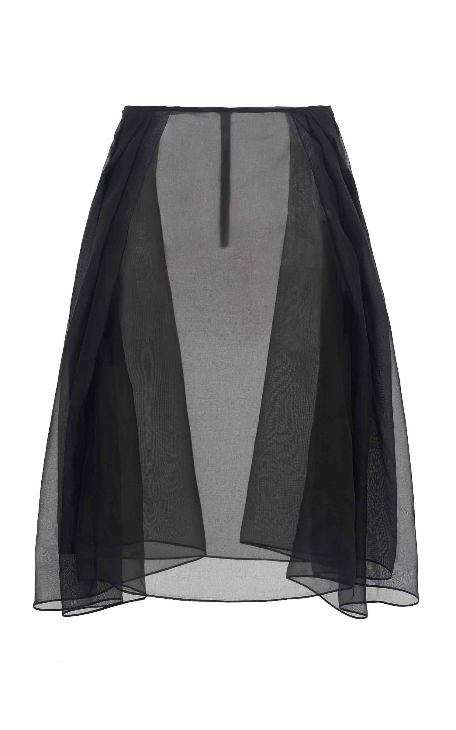 black silk organza skirt