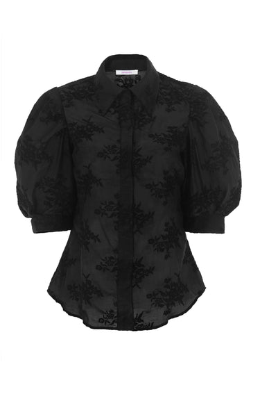 sacred to the land black floral top