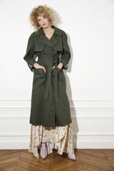 trench coat. sustainable luxury clothing designed and made by nevenka in melbourne.