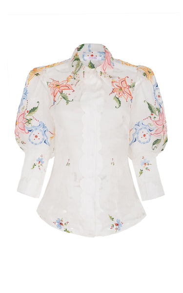 sacred to the land silk organza shirt