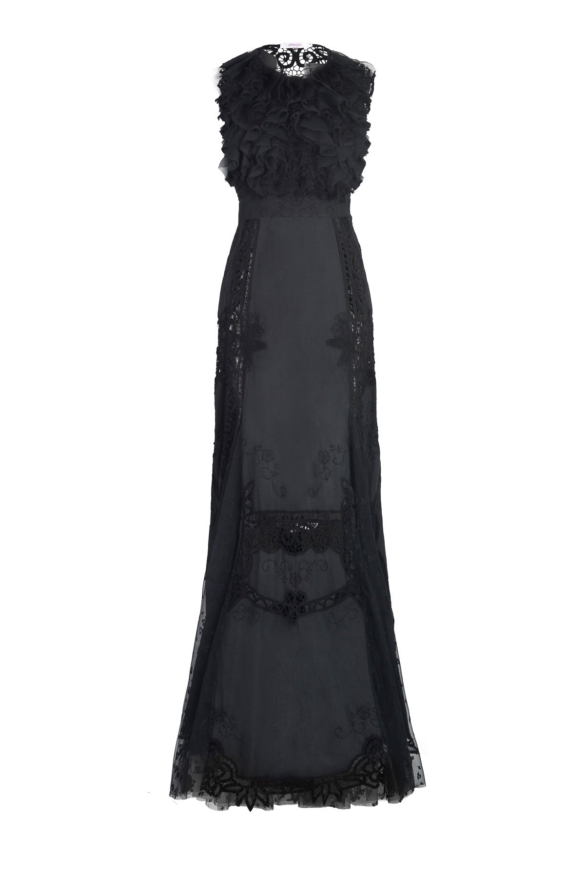 nevenka black rose dress front