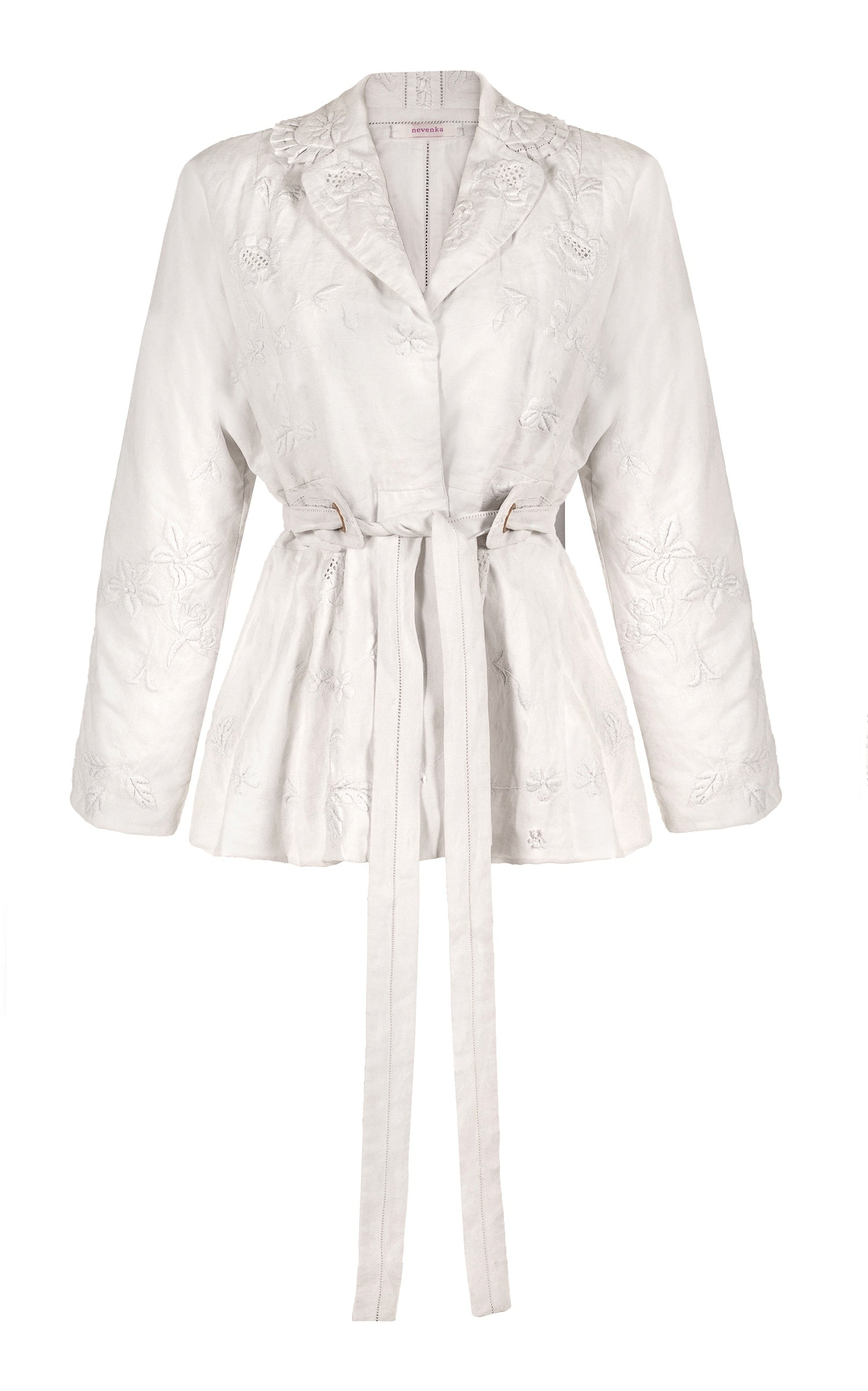 let it rain down on me white embroidery jacket