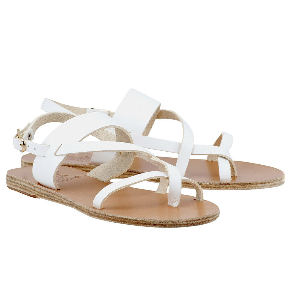 ancient greek sandals - althea white