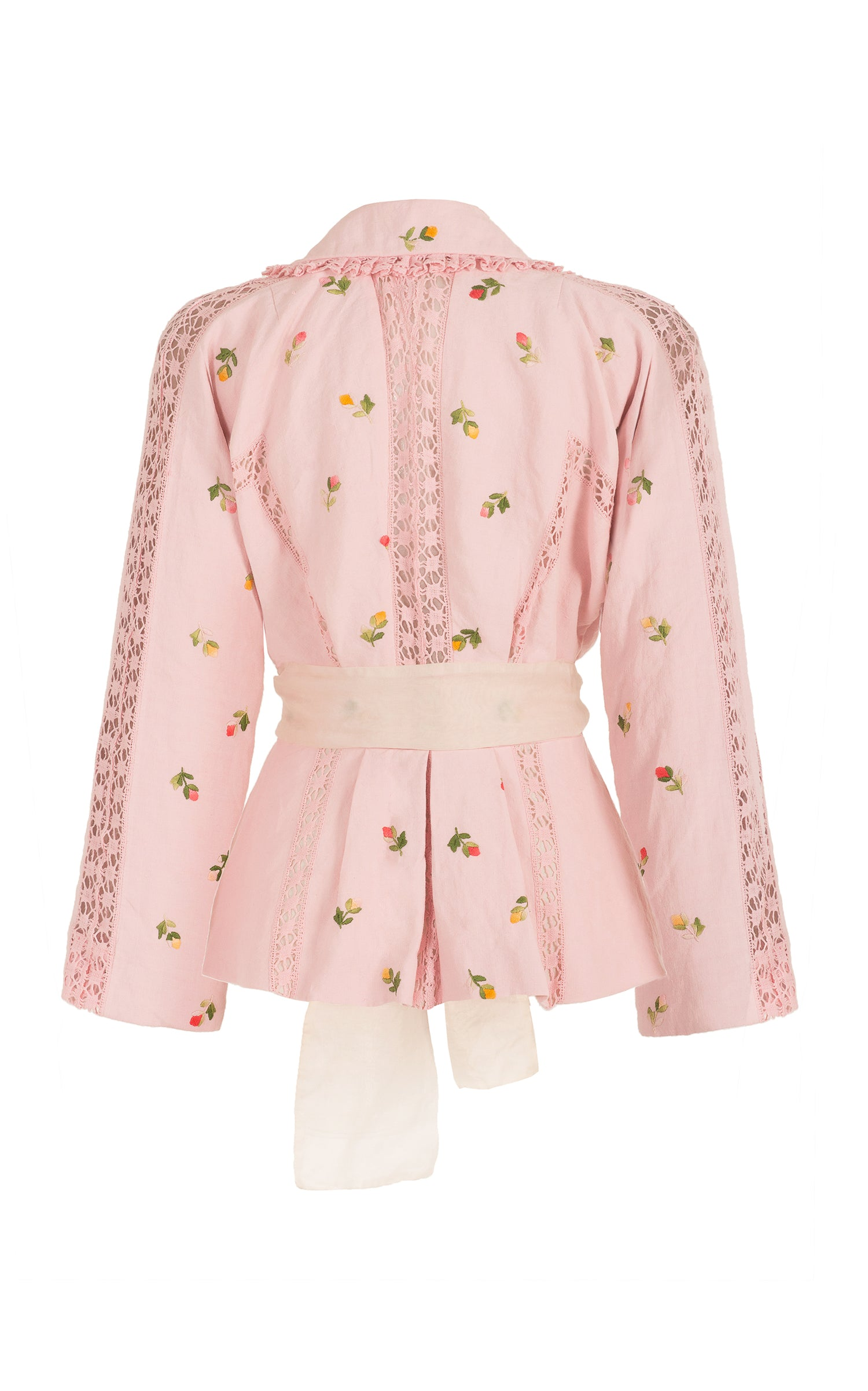 let it rain down on me pink embroidery jacket