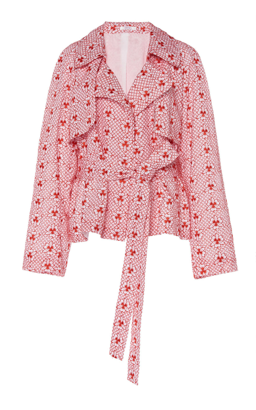 young blood trench red floral