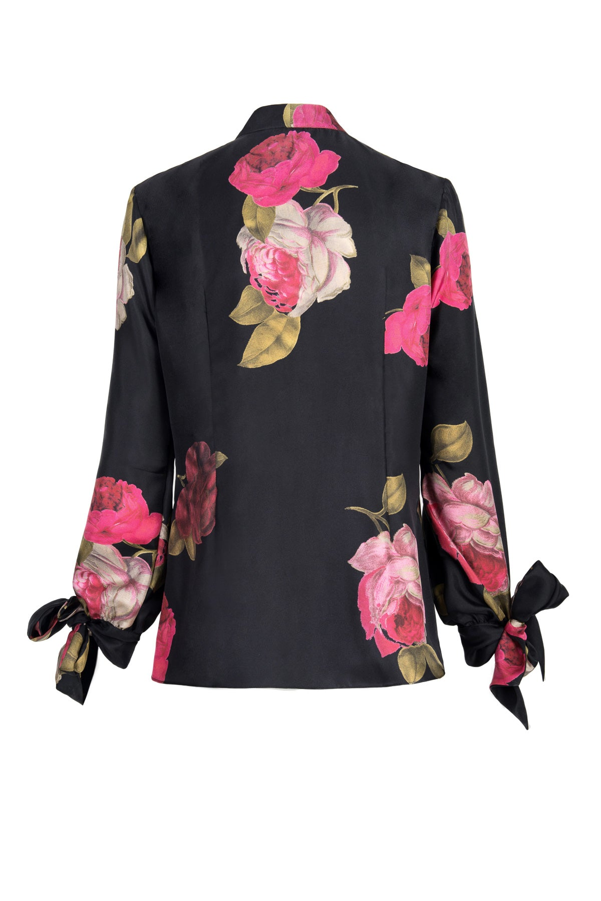 to the gate of heaven blouse - rose noir print