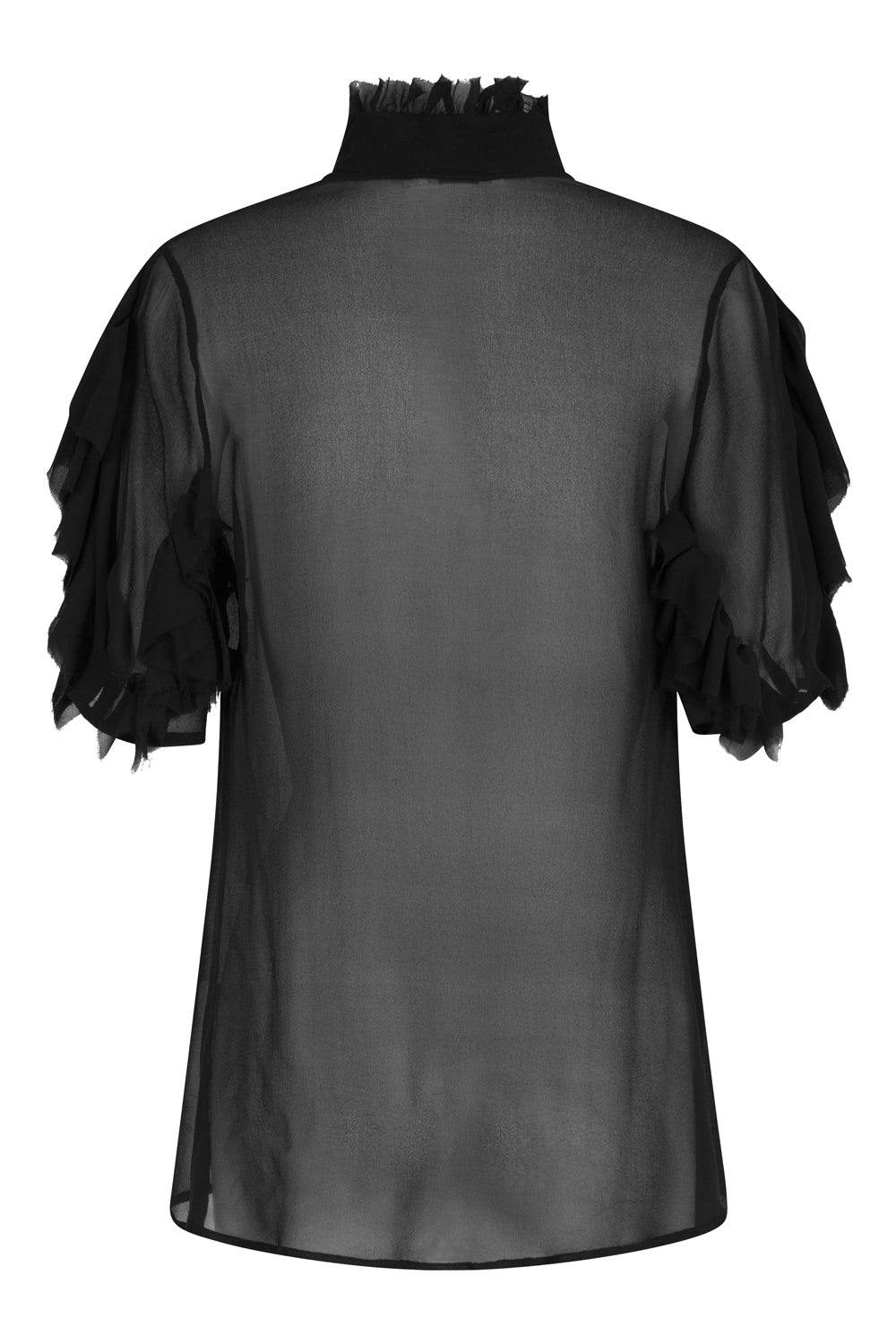 nevenka silk georgette 'black widow' blouse