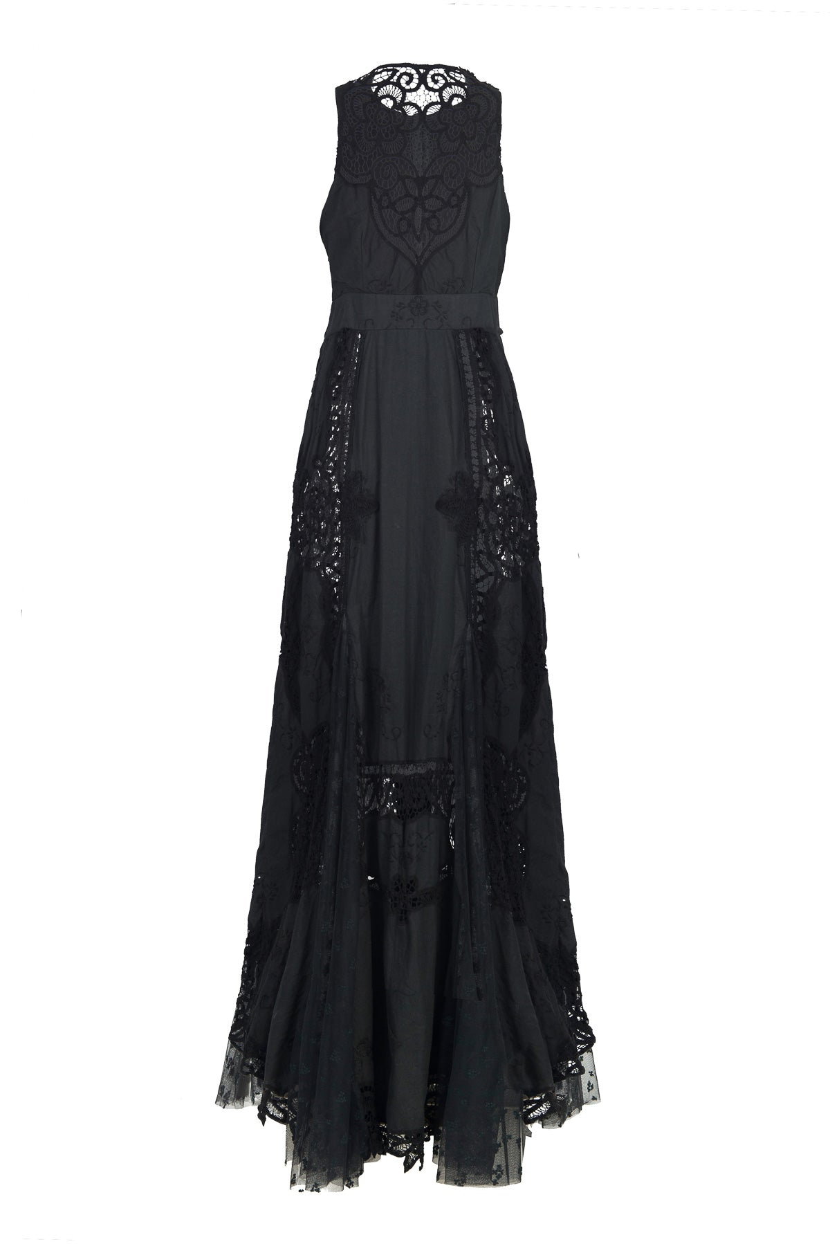 nevenka black rose dress back