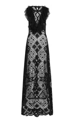 death dress – black lace long dress