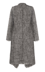 she is love grey boucle coat